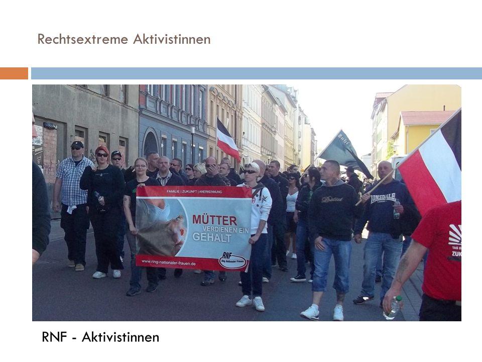 Rechtsextreme Aktivistinnen RNF - Aktivistinnen