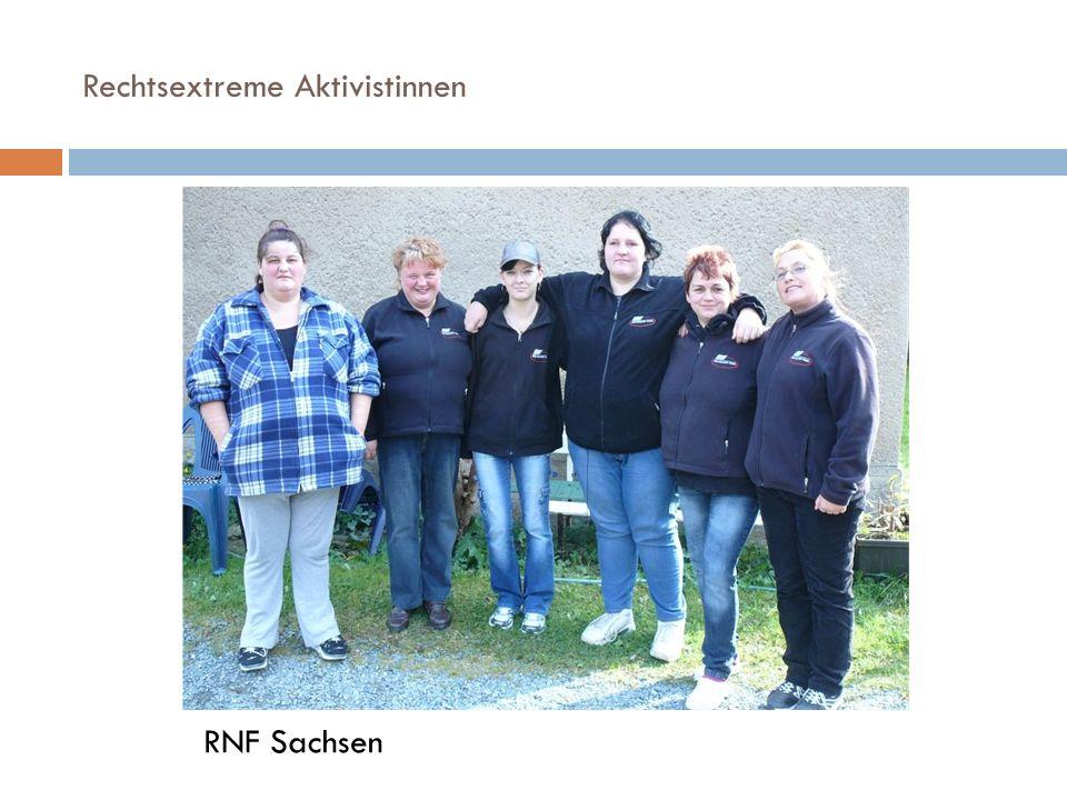 Rechtsextreme Aktivistinnen RNF Sachsen