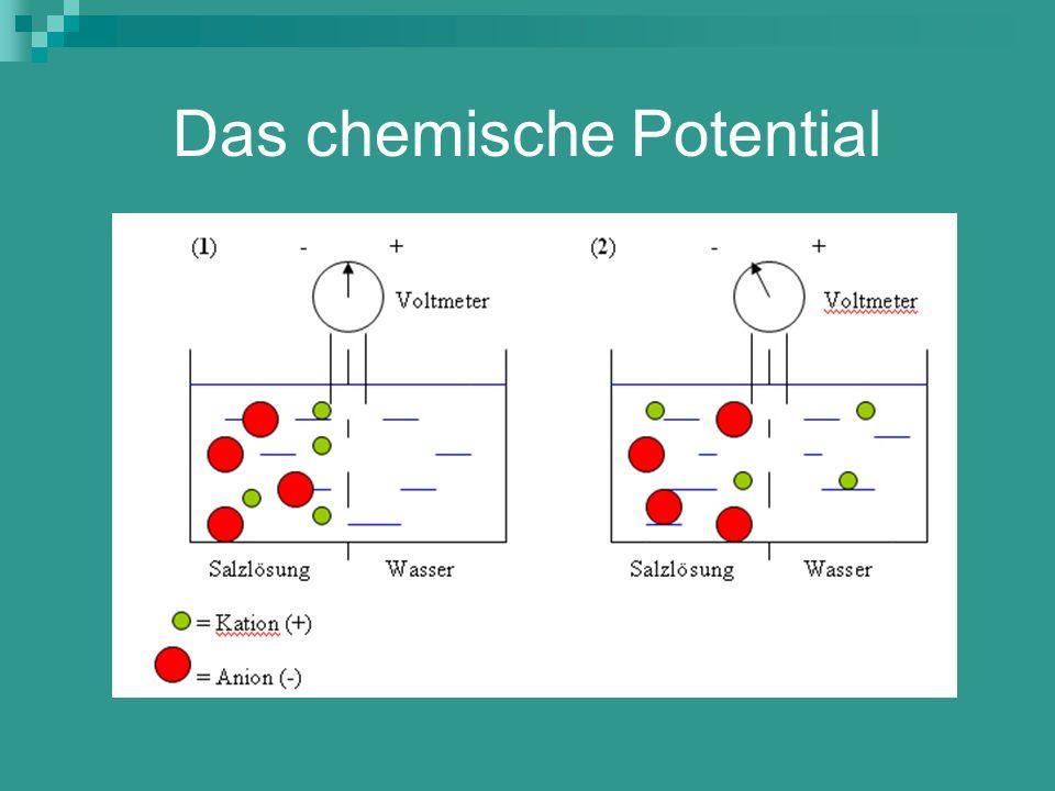 Das chemische Potential