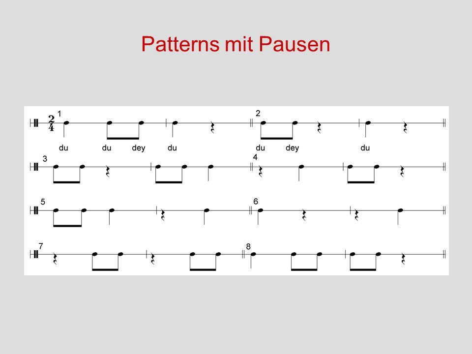 Patterns mit Pausen