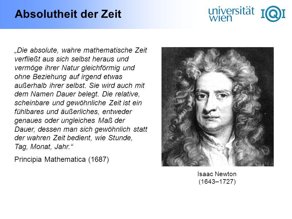Die Zeit in der Thermodynamik Die Naturgesetze selbst (Mechanik & Elektrodynamik) können zwischen Vergangenheit und Zukunft nicht unterscheiden (invariant unter Zeitumkehr) Erst der 2.