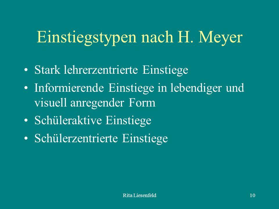 Rita Liesenfeld10 Einstiegstypen nach H.
