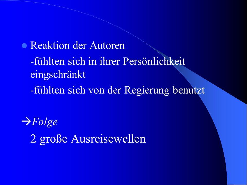 Bis Anfang der 50er Jahre -wenig Konflikte -Literatur der DDR galt offiziell als Fortsetzung der klassischen deutschen Philosphie Ab Anfang der 50er J