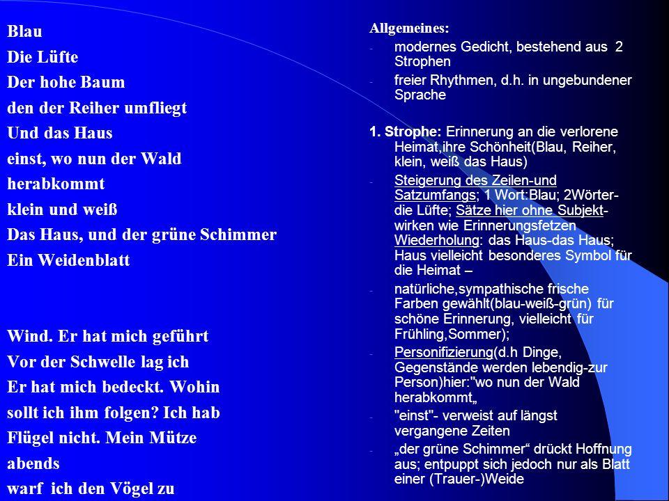 Gedichtsinterpretation Johannes Bobrowski: Heimweg