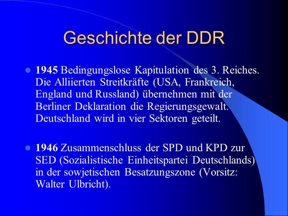 Geschichte der DDR 1945 Bedingungslose Kapitulation des 3.