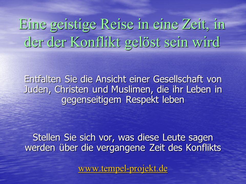 Friede Gegenseitiger Respekt KooperationBarmherzigkeitWohlwollen www.tempel-projekt.de
