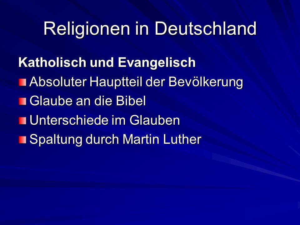 Religionen in Deutschland Moslems 3 Millionen in Deutschland Religionsstifter Mohammed (geb.
