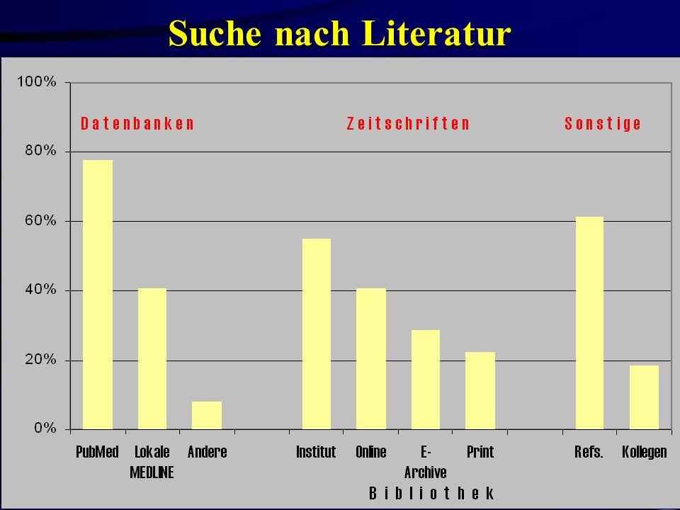 Dr. Oliver Obst AGMB-Sitzung Bibliothekskongreß Leipzig 22.3.2000 Suche nach Literatur