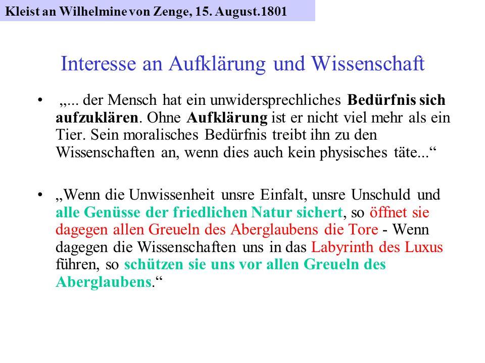 Wissensdrang Alles was ich dort [in Frankfurt/O.] hören möchte, ist ein Kollegium über literarische Enzyklopädie.