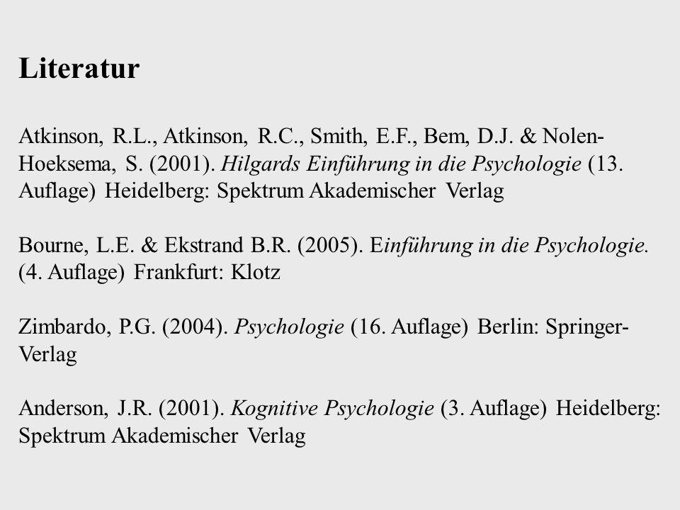 Trennung von KZG/Arbeitsgedächtnis und LZG - Neuropsychologische Hinweise - Serielle Positionskurve