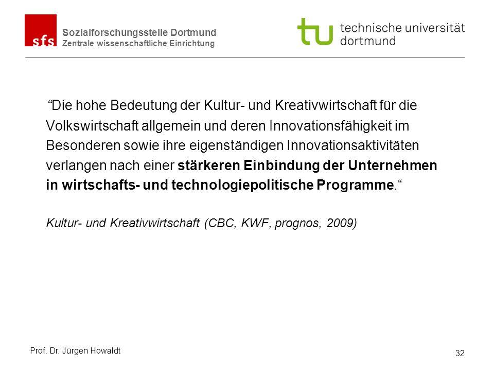 Sozialforschungsstelle Dortmund Zentrale wissenschaftliche Einrichtung Die hohe Bedeutung der Kultur- und Kreativwirtschaft für die Volkswirtschaft al
