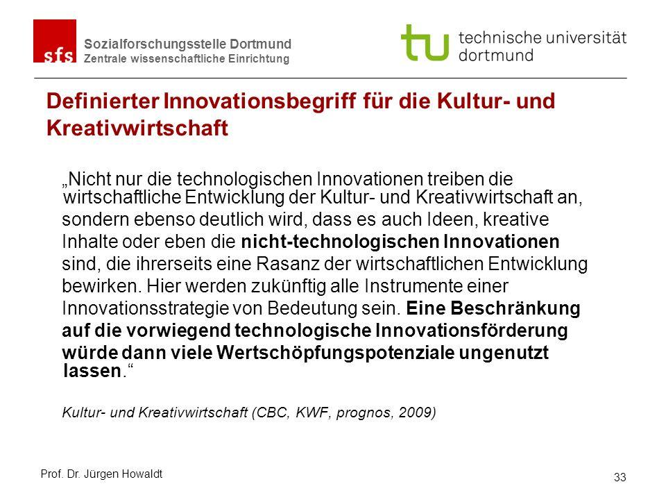 Sozialforschungsstelle Dortmund Zentrale wissenschaftliche Einrichtung Nicht nur die technologischen Innovationen treiben die wirtschaftliche Entwickl