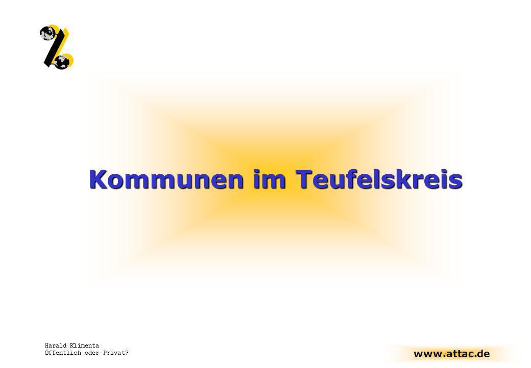 www.attac.de Harald Klimenta Öffentlich oder Privat? Kommunen im Teufelskreis