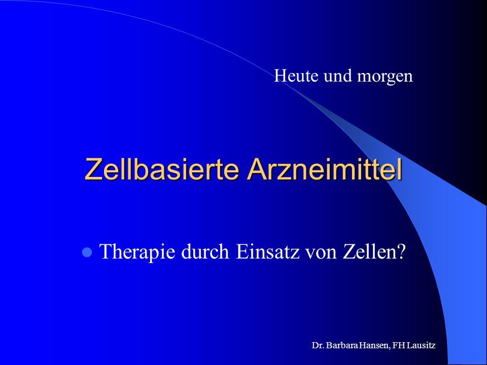 Dr. Barbara Hansen, FH Lausitz Wie gewinnt man Erythropoetin? Früher aus humanem Urin, für die Behandlung eines Patienten waren pro Jahr 1,6 Mill. Lit