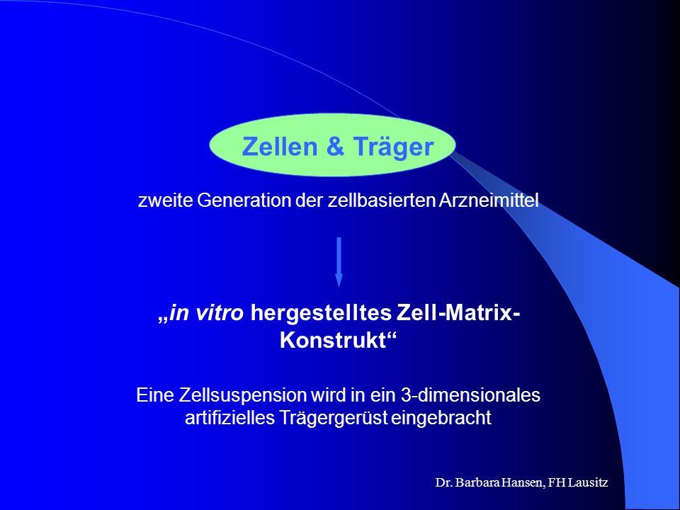 Dr. Barbara Hansen, FH Lausitz Knorpel-Zell- Transplantation