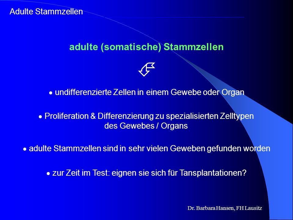 xx Nabelschnurblut Stammzellen Zellentnahme zur Präimplantations- diagnostik (PID) Embryonale Stammzellen Adulte Stammzellen