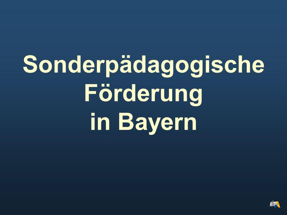 Sonderpädagogische Förderung in Bayern