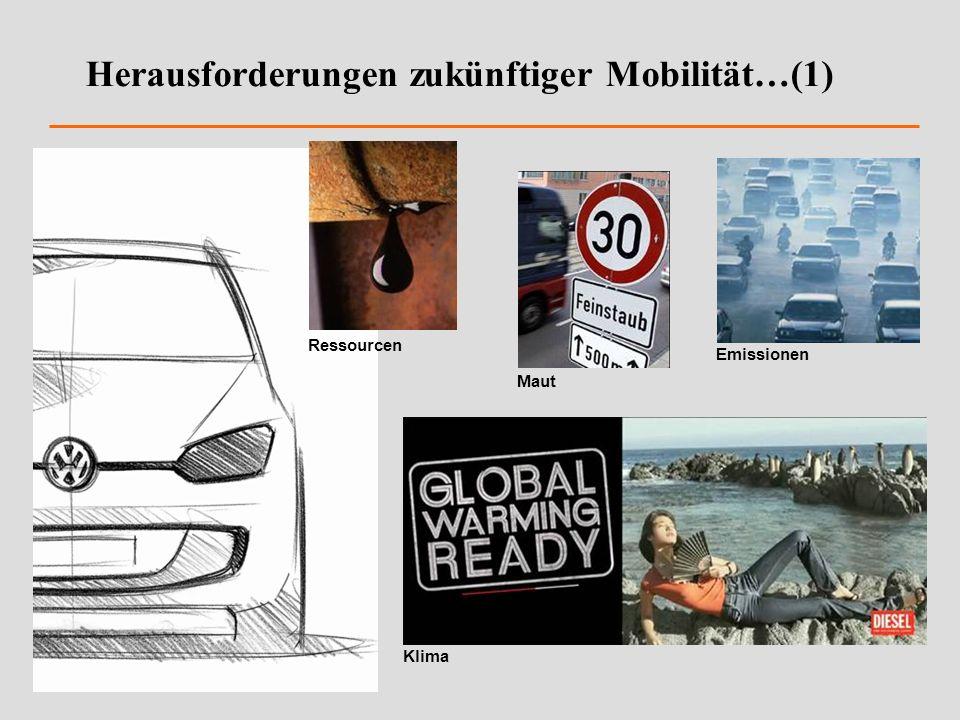 Herausforderungen zukünftiger Mobilität…(1) Maut Klima Emissionen Ressourcen