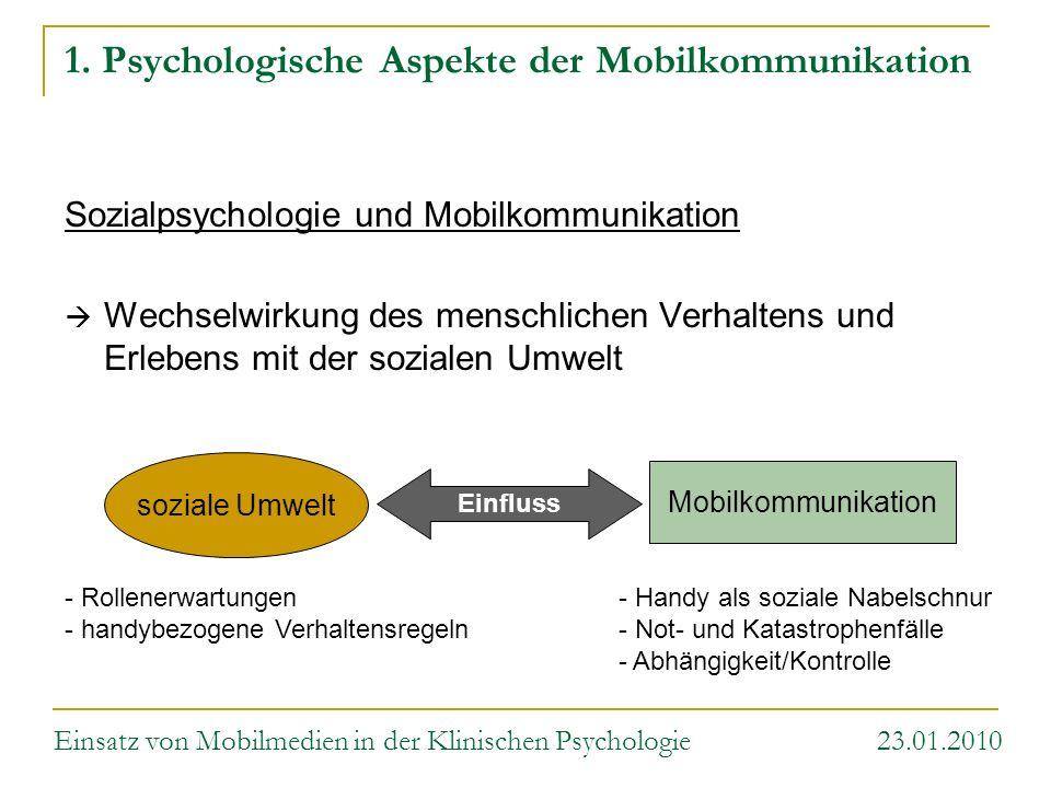 Mobilkommunikation soziale Umwelt Einfluss 1. Psychologische Aspekte der Mobilkommunikation Sozialpsychologie und Mobilkommunikation Wechselwirkung de