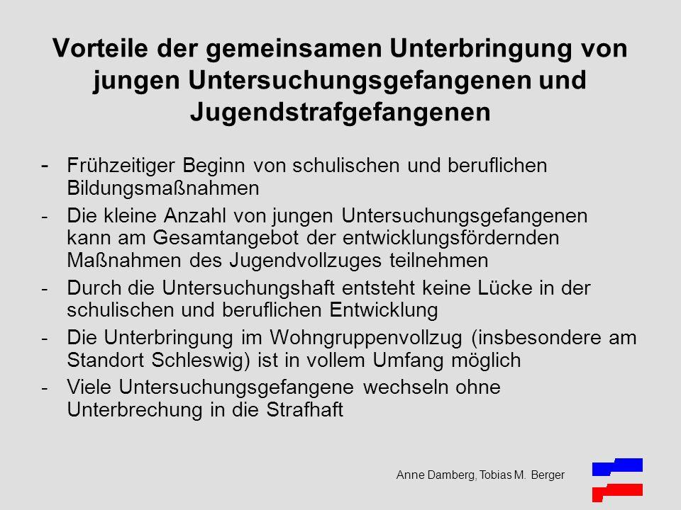 Anne Damberg, Tobias M. Berger Vorteile der gemeinsamen Unterbringung von jungen Untersuchungsgefangenen und Jugendstrafgefangenen - Frühzeitiger Begi