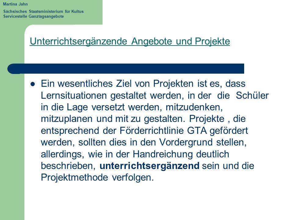 Anforderungen an Projekte Ziel Stärkung vonSelbst- ) Sozial- ) kompetenz Sach - ) Spezifisch + klar.