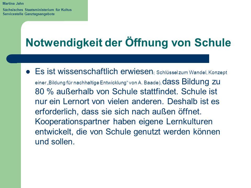 Notwendigkeit der Öffnung von Schule Es ist wissenschaftlich erwiesen ( Schlüssel zum Wandel, Konzept einer Bildung für nachhaltige Entwicklung von A.