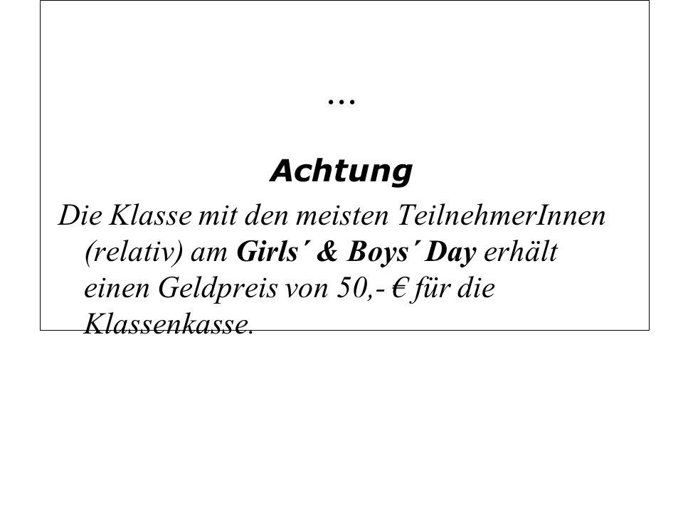 Elterninformation Was ist der Girls and Boys´ Day an der GBS.