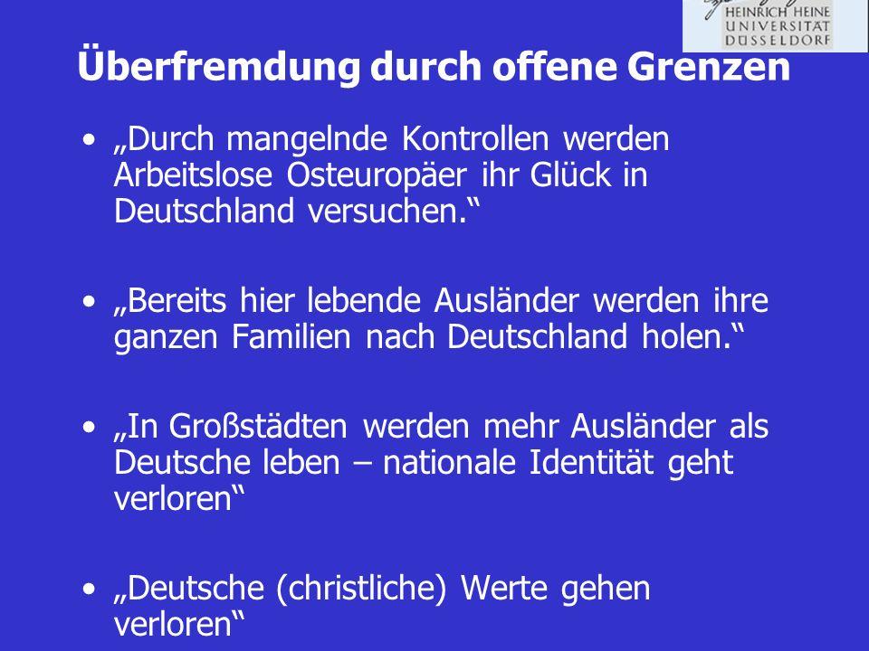 Überfremdung durch offene Grenzen Durch mangelnde Kontrollen werden Arbeitslose Osteuropäer ihr Glück in Deutschland versuchen. Bereits hier lebende A