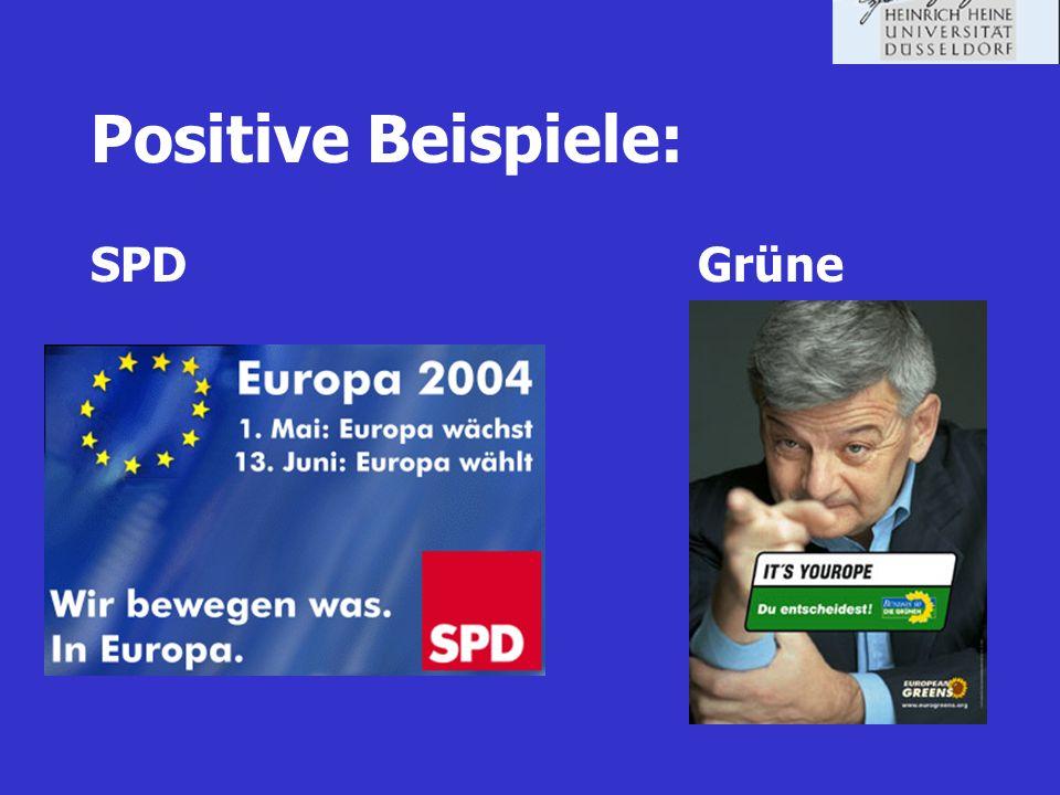 Positive Beispiele: SPD Grüne