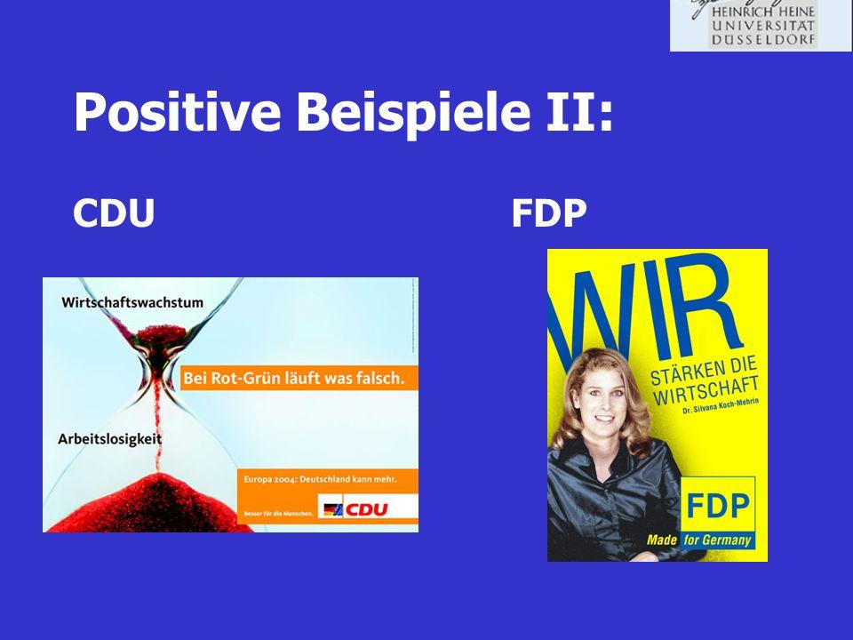 Positive Beispiele II: CDU FDP