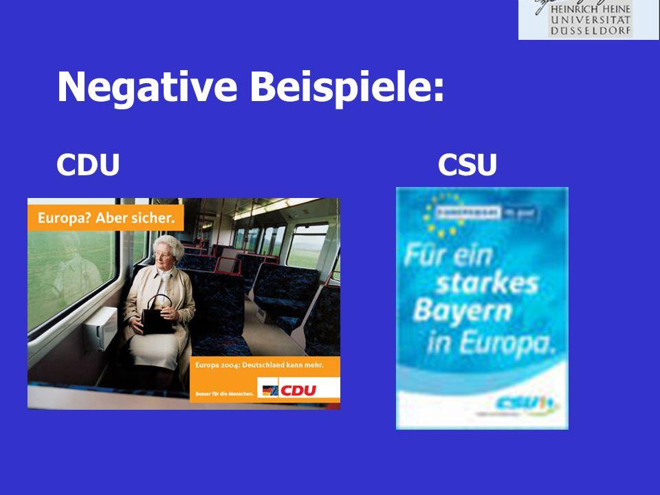Negative Beispiele: CDU CSU