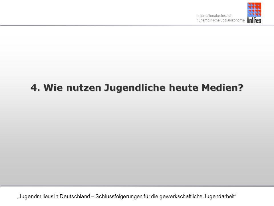 Internationales Institut für empirische Sozialökonomie Jugendmilieus in Deutschland – Schlussfolgerungen für die gewerkschaftliche Jugendarbeit 4.
