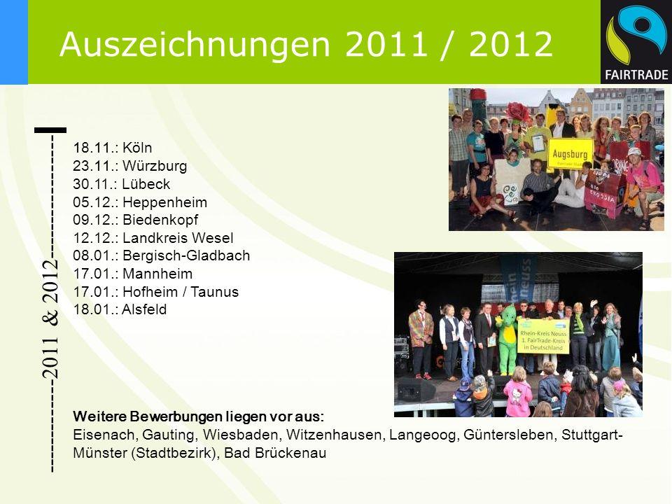-------------2011 & 2012----------------- 18.11.: Köln 23.11.: Würzburg 30.11.: Lübeck 05.12.: Heppenheim 09.12.: Biedenkopf 12.12.: Landkreis Wesel 0