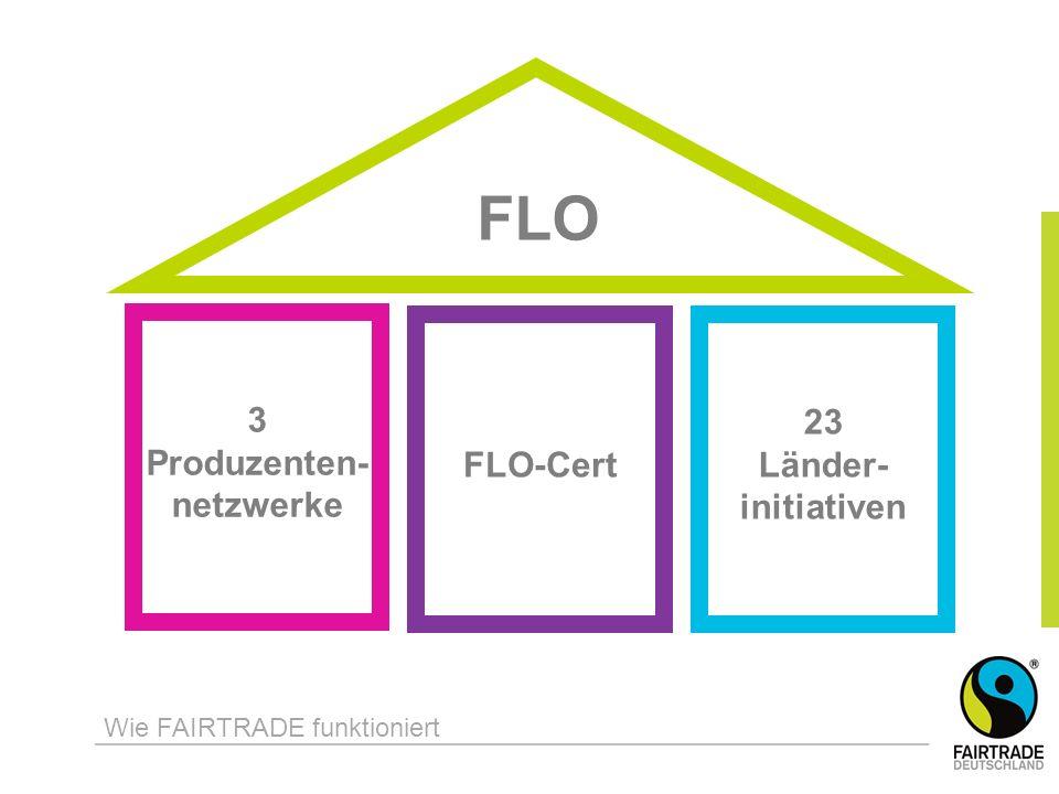 FLO 3 Produzenten- netzwerke Wie FAIRTRADE funktioniert FLO-Cert 23 Länder- initiativen