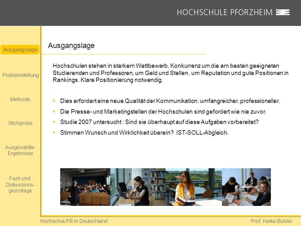 Hochschul-PR in Deutschland Prof.Heike Bühler Womit verbringen die Befragten ihre Zeit.