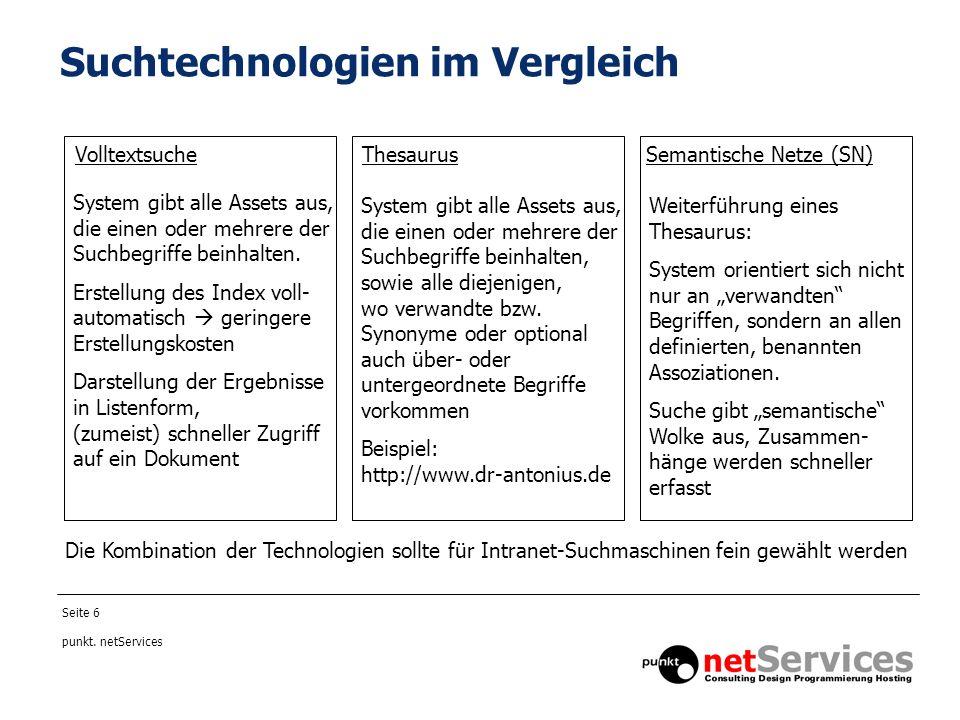 Seite 7 punkt.netServices Semantische Netze und ihre Möglichkeiten...