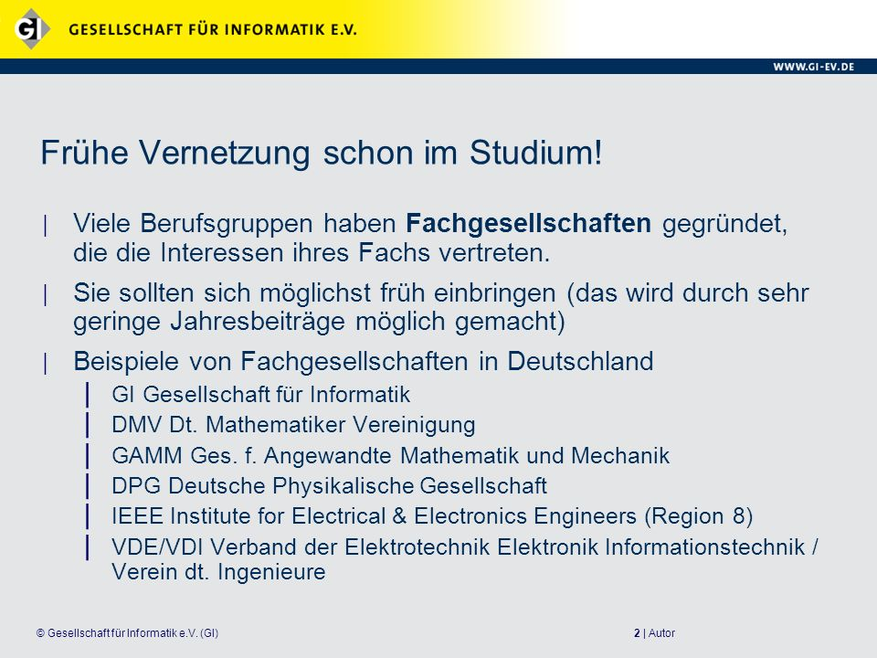 13   Autor© Gesellschaft für Informatik e.V.