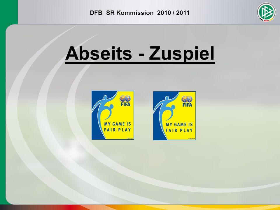 DFB SR Kommission 2010 / 2011 Abseits - Zuspiel