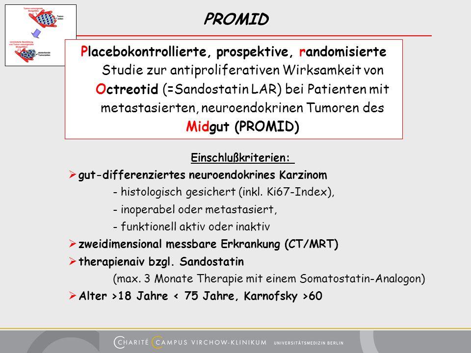 PROMID Placebokontrollierte, prospektive, randomisierte Studie zur antiproliferativen Wirksamkeit von Octreotid (=Sandostatin LAR) bei Patienten mit m