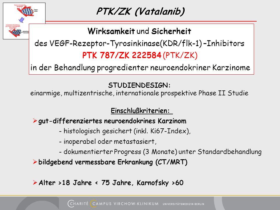 PTK/ZK (Vatalanib) Wirksamkeit und Sicherheit des VEGF-Rezeptor-Tyrosinkinase(KDR/flk-1) –Inhibitors PTK 787/ZK 222584 (PTK/ZK) in der Behandlung prog