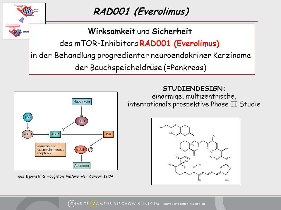 RAD001 (Everolimus) Wirksamkeit und Sicherheit des mTOR-Inhibitors RAD001 (Everolimus) in der Behandlung progredienter neuroendokriner Karzinome der B