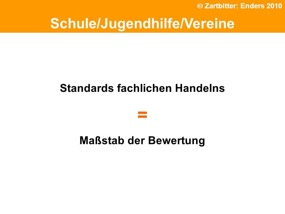 Politische Grundhaltung Schule/Jugendhilfe/Vereine Standards fachlichen Handelns = Maßstab der Bewertung Zartbitter: Enders 2010