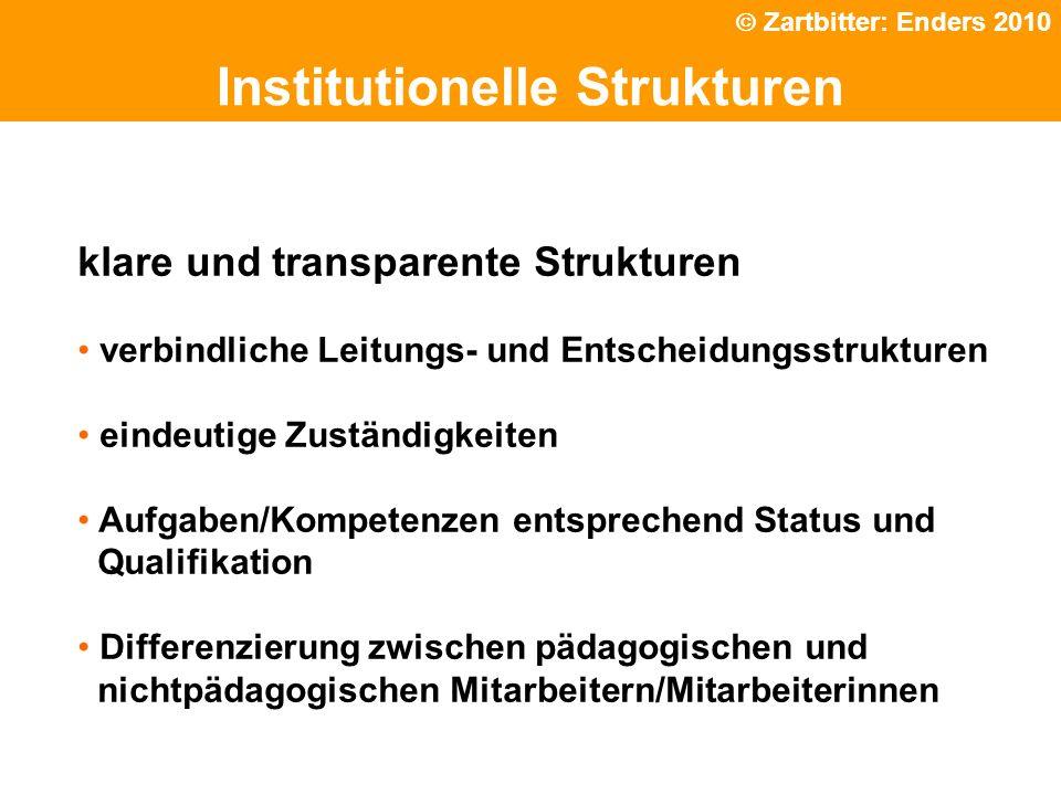 Politische Grundhaltung Institutionelle Strukturen klare und transparente Strukturen verbindliche Leitungs- und Entscheidungsstrukturen eindeutige Zus