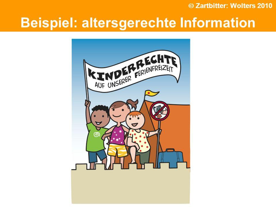 Politische Grundhaltung Beispiel: altersgerechte Information Zartbitter: Wolters 2010