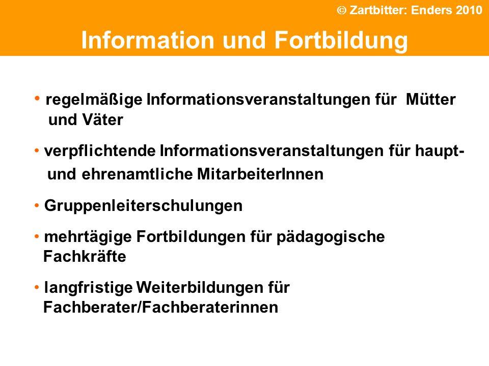Politische Grundhaltung Information und Fortbildung regelmäßige Informationsveranstaltungen für Mütter und Väter verpflichtende Informationsveranstalt