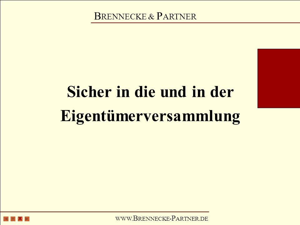 X B RENNECKE & P ARTNER WWW.B RENNECKE- P ARTNER.DE I.