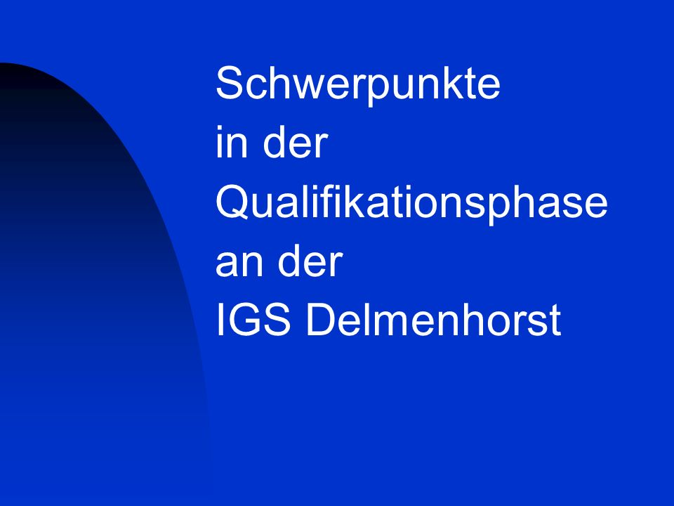 Sprachlicher Schwerpunkt Schwerpunktfächer mit angebundenem Seminarfach halbjährlich alternierend Prüfungs- fächer EnglischP1 DeutschP2 Kern- bzw.