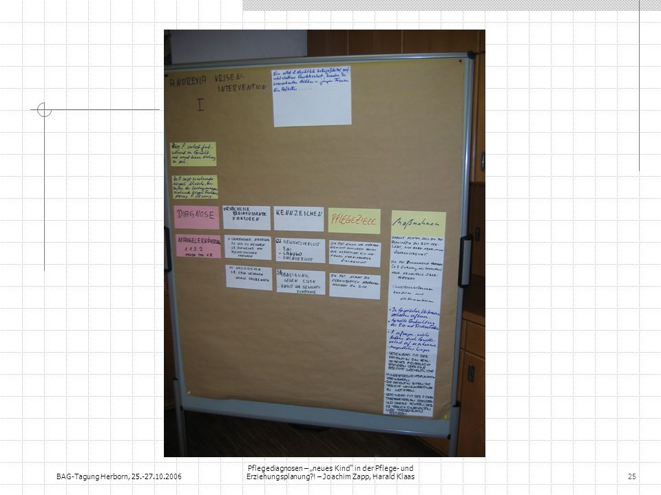 BAG-Tagung Herborn, 25.-27.10.2006 Pflegediagnosen – neues Kind in der Pflege- und Erziehungsplanung?! – Joachim Zapp, Harald Klaas25