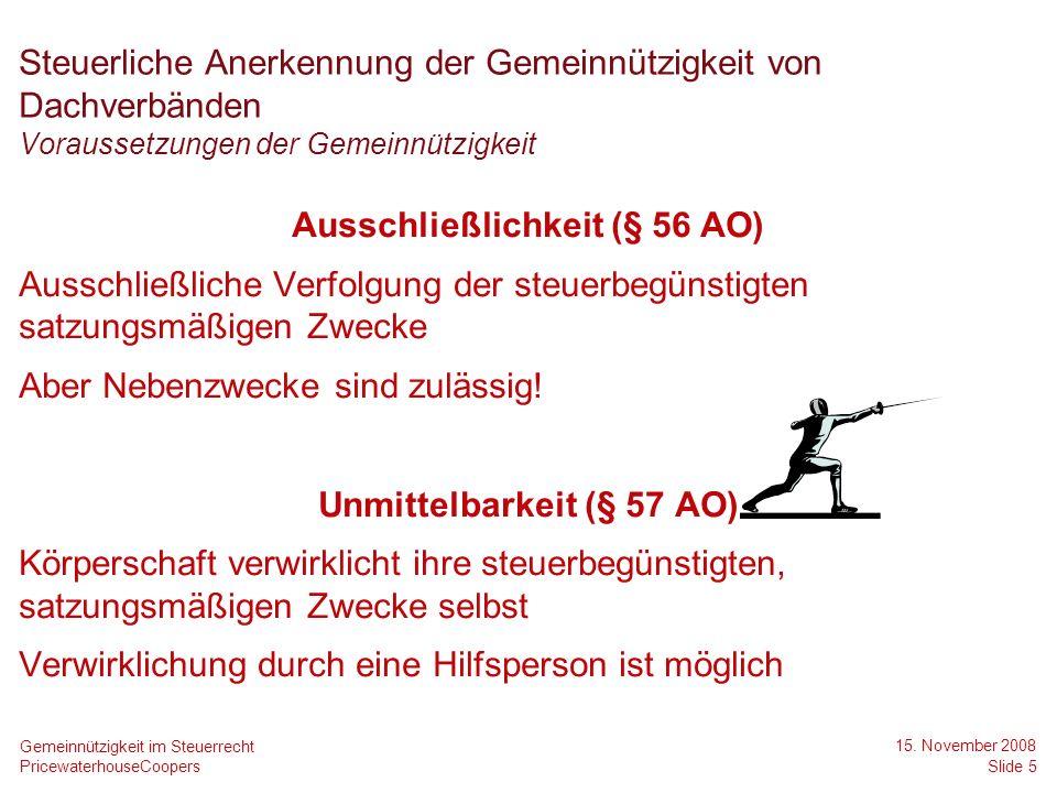 Agenda 2) Änderungen des Anwendungserlasses zur Abgabenordnung 1) Steuerliche Anerkennung der Gemeinnützigkeit von Dachverbänden 3) Aktuelle Gesetzgebungsverfahren