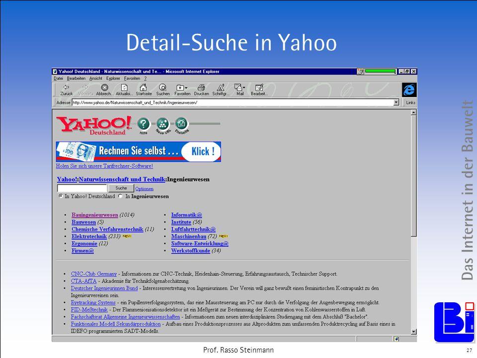 Das Internet in der Bauwelt 27 Prof. Rasso Steinmann Detail-Suche in Yahoo